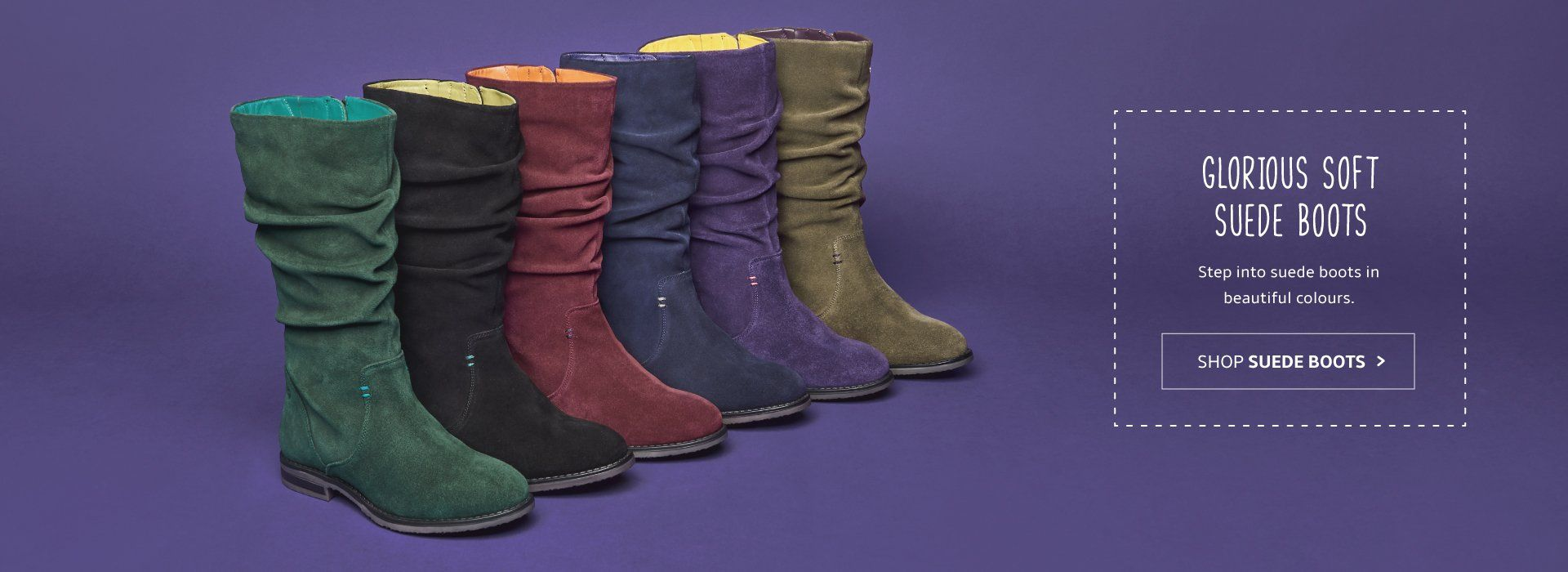 Ladies Suede Boots