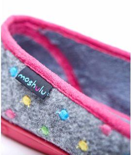 AMARETTI Mini-spot ballerina slippers