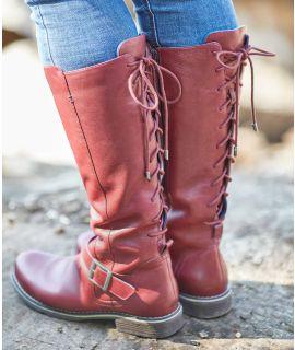 KNAVE Long lace-up boots