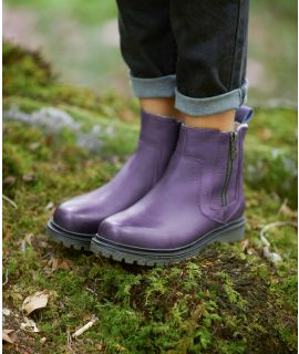 HATTER Leather fleece lined ankle boots