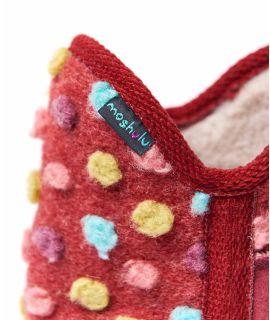 FIRESIDE 2 Spotty bootie slippers