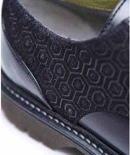 KELP Leather & suede Derby shoes