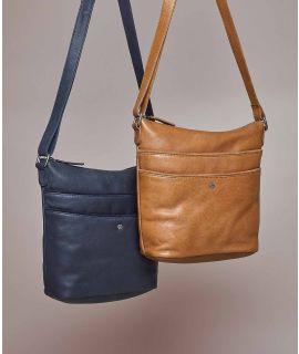 VANDA 2 Leather shoulder bag