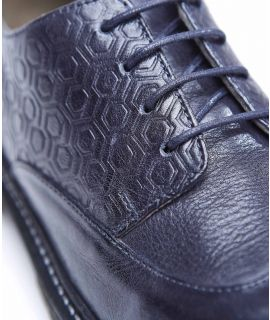 SEAGRASS Leather winged toe cap Oxfords