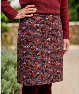 KNEE LENGTH CORD SKIRT W145L Ladies cotton skirt