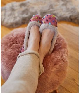 PANNA COTTA Spotty felt ballerina slippers