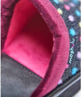 PAMPLONA Spotty mule slippers