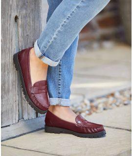 COASTLINE WAXY Ladies chunky cleated loafers