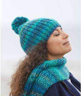 ELURRA HAT Chunky knit pom pom hat
