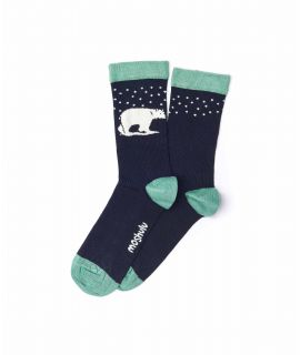 COCONUT ICE Ladies polar bear socks