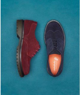 SEAGRASS SUEDE Embossed suede Oxfords