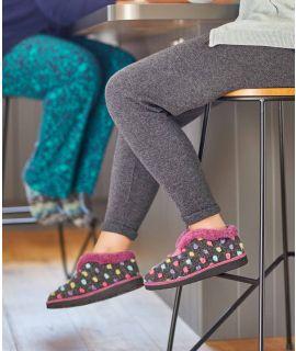 BO Bo spotty bootie slippers
