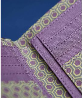 GYPSOPHILA Patterned oilcloth purse