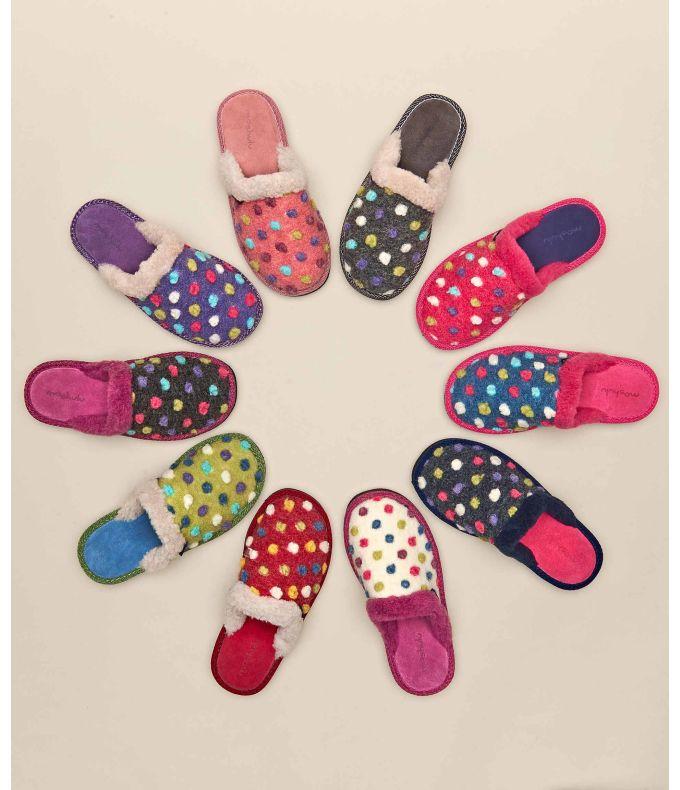 MALIA 2 Spotty mule slippers