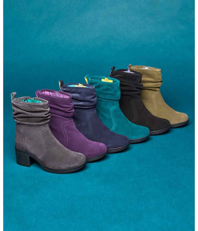 TAYLOR 2 Heeled suede ankle boots