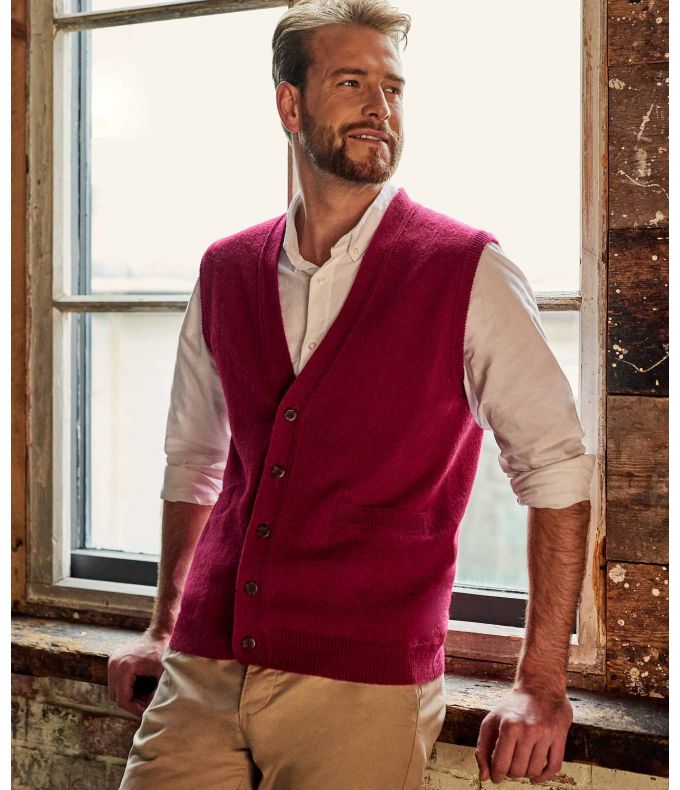 MENS LAMBSWOOL KNITTED WAISTCOAT L5