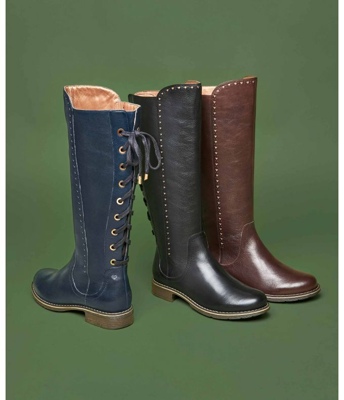 Oliver 2 | Lace-up long leather boots