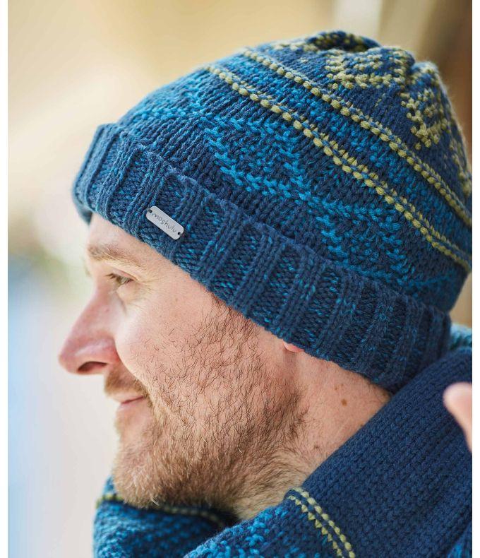 MAYON HAT Men's patterned knit hat