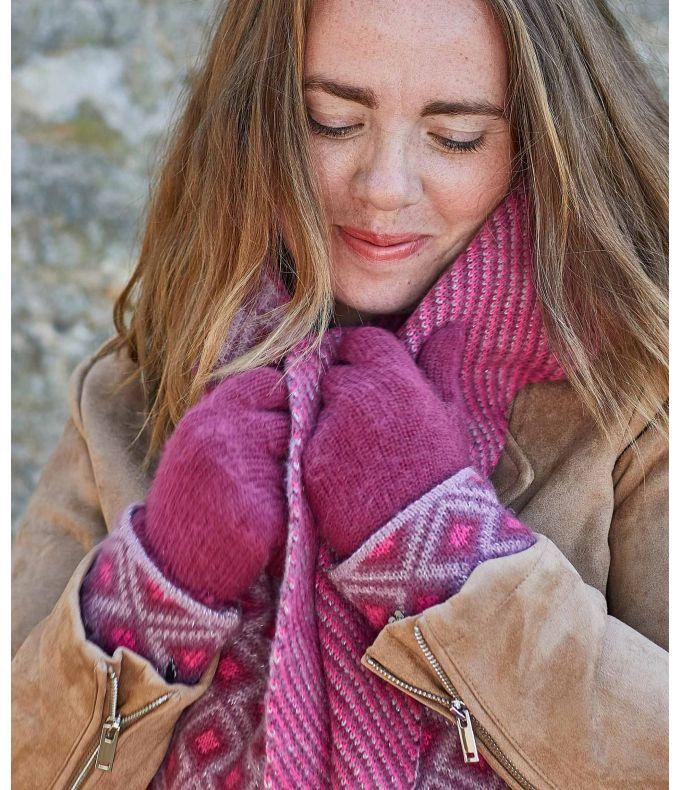 FLURRY GLOVE Geo pattern knitted gloves