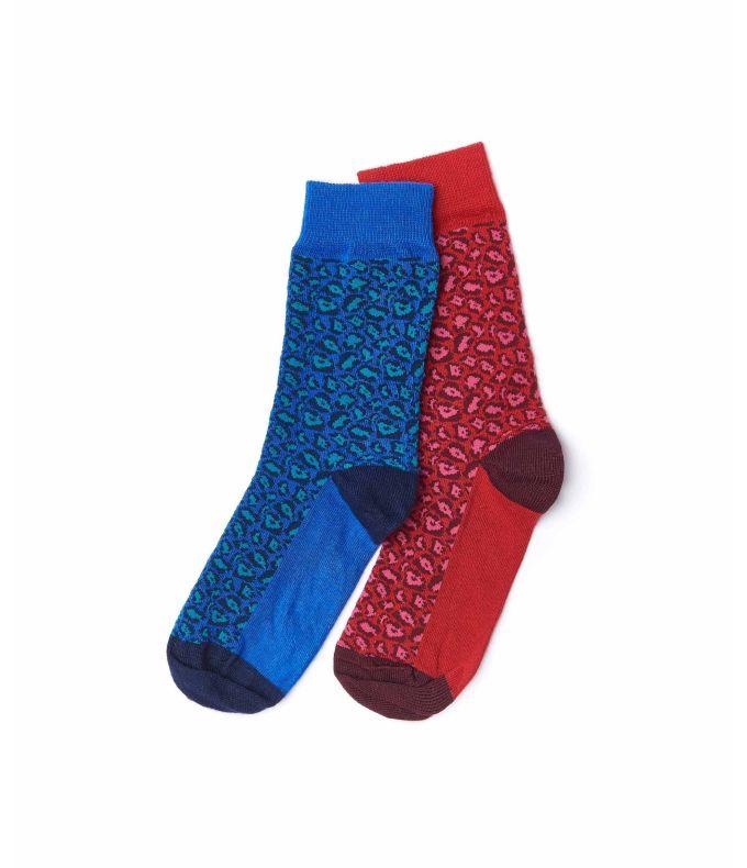 COMPOTE Leopard print socks