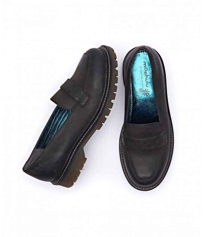 ESTUARY WAXY Ladies waxy leather loafers