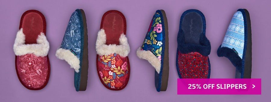 25% off Slippers