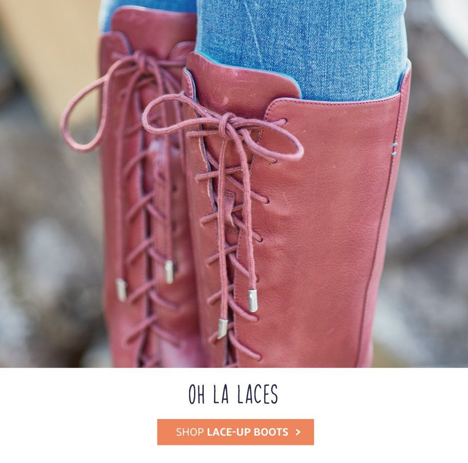 Ladies lace up boots
